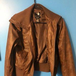 Full Tilt Jackets & Coats - Brown leather jacket